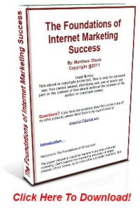 The Foundations of Internet Marketing Success