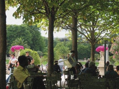 Jardin du Luxembourg (aout 2010)_pointillisme2